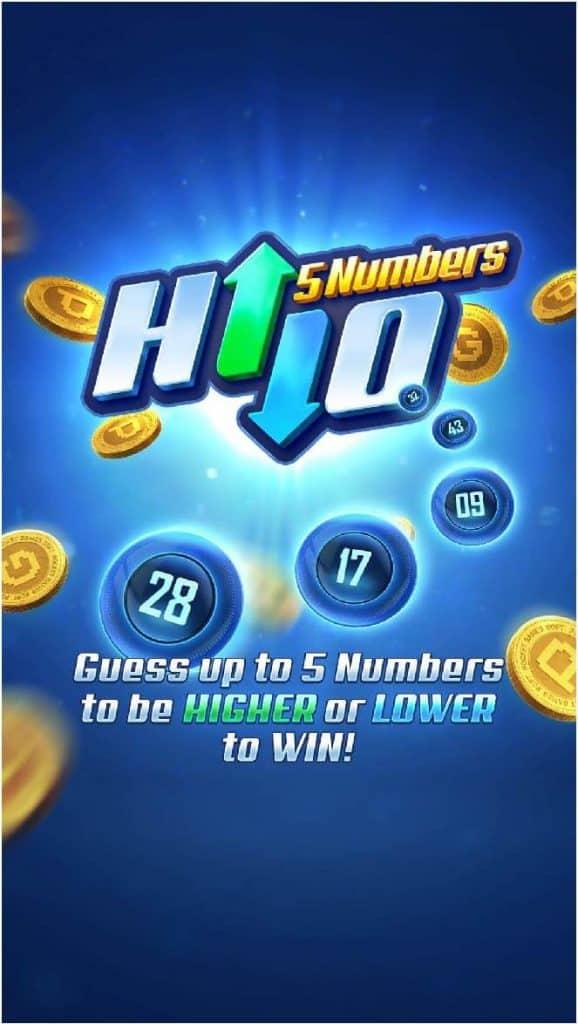 5 numbers hilo game